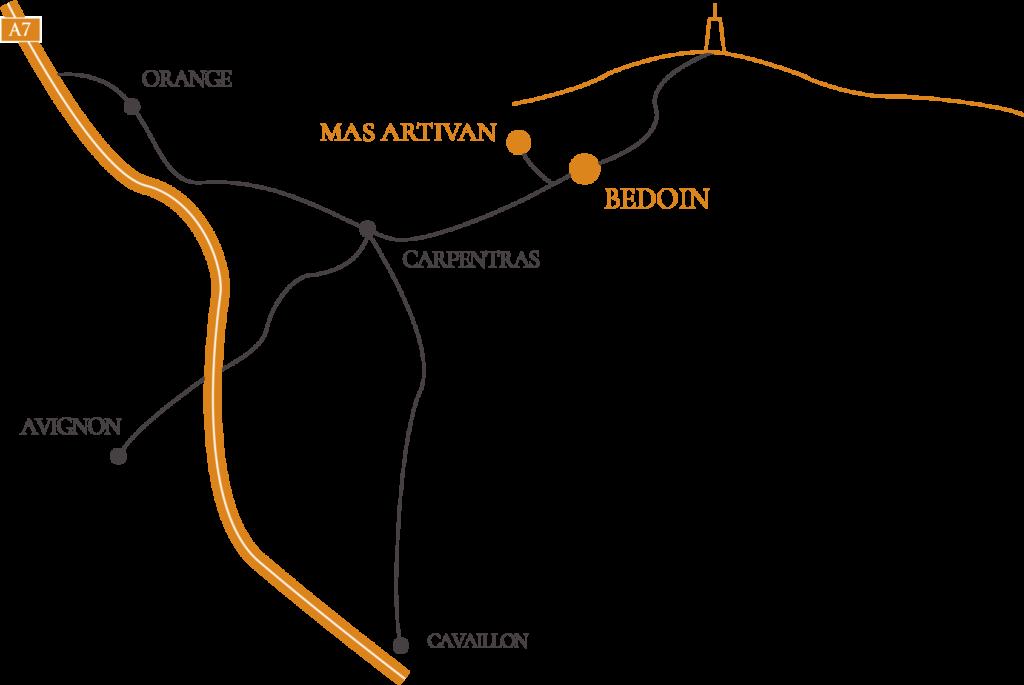 Plan du mas Artivan